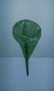Birds green scoop net lace with a green plastic handle. Handle 30 cm cone base 18 cm diameter
